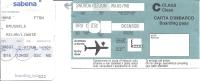 Boarding Pass - Sabena - SN807/SN806 - Brussels-Milan LIN-Brussels - 01-02JUN95 - Instapkaart