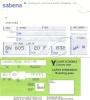 Boarding Pass - Sabena - SN805/SN808 - Brussels-Milan LIN-Brussels - 19-20JUN95 - Instapkaart