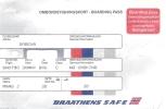 Boarding Pass - Braathens SAFE - SN788 - Oslo FBU-Brussels - 30MAY95 - Instapkaart