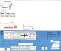 Boarding Pass - Sabena - SN889/SN888 - Brussels-Madrid-Brussels - 08-15FEB95 - Instapkaart