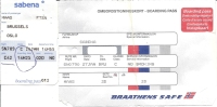 2 Boarding Pass - Sabena/Braathens Safe - SN789/SN790 - Brussels-Oslo FBU-Brussels - 26-27JAN95 - Cartes D'embarquement