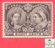 Canada # 56 Scott /Unisafe - MINT NEVER HINGED F/VF - 8 Cents - Diamond Jubilee Issue - Neuf  Sans Charnière F/VF - Neufs
