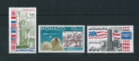 Monaco Timbres De 1986  Neufs** N°1535 A 1537 (vendu A La Faciale) - Ungebraucht