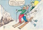 Leçon De Ski - Cp 10 X 15 - Humour