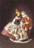 Lovers In Spanish Costume Porcelain,Johann Joachim Kandler Model - 1741.Porcelain Collectin-Zwing,Rare Postcard, Unused. - Arts