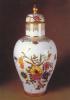 German Porcelain Vase With Cap Flowers - 1740-1745. Porcelain Collection - Zwing. Postcard Unused. - Arts