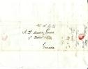 Lotto Lot PREFILATELIA PREFILATELICA  Barcelona Barcellona Cataluna PER GENOVA  11 Ottobre     1788 CON TESTO - 1. ...-1850 Vorphilatelie