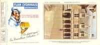 Buvard  FLAN LYONNAIS ENTREMETS N° 6 Sur Une Série De 24 - Food