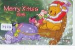 Télécarte Japon (3804) DISNEY * Phonecard Japan * Telefonkarte * CHRISTMAS * WINNIE TEH POOH * CINEMA * FILM - Disney