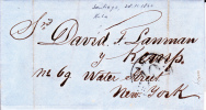 CUBA - 1860 - RARE LETTRE De SANTIAGO De CUBA Pour NEW-YORK  - RARE - Préphilatélie