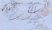 """CUBA - 1866 - RARE LETTRE De HAVANA Pour PARIS Avec CACHET D´ENTREE """"ETATS UNIS"""" - Préphilatélie"""