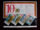 KUT 1972 10th.Anniv UGANDAN INDEPENDENCE  Issue 4 Values To 2/50 With PRESENTATION CARD MNH. - Kenya, Uganda & Tanganyika