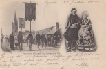 Ploaré 29 -  Religion - Procession Bannières - Cachet Taxe Tours 1900 - France