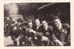 20563 -quatre 4 Photo 55x85 Mm . Linkebeek Belgique . Datée Juillet 1948 Mariage Jean-julia Vieille Voiture - Photos