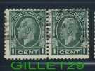 CANADA STAMP - KING GEORGE V MEDALLION ISSUE - SCOTT No 195, 0.01ç, 1932, DARK GREEN - USED - - 1911-1935 Règne De George V