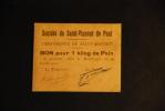 Société De Saint Vincent De Paul - Conférence Saint Bonnet - Pain - Historical Documents