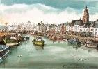 Illustrateur-d´après Aquarelle De Roland CHETELAT-Le Croisic, Le Port- RC 142 (2) (chalutiers, Pêche) - Illustratoren & Fotografen
