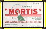 Produits Pour Destruction Des Rongeurs -  Buvard - Mortis - Animaux