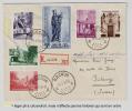 Belgique - RACOUR, FDC De 1954 - Restauration Du Béguinage De Bruges La Série Sur Une Seule Lettre Recommandée - Belgique