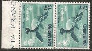 S. Marino 1961 - N. 696 - Dinosauri £ 75 - 2x - MNH** - Saint-Marin