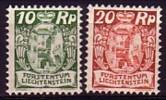Liechtenstein 1924  YT 67+69  N* (avec Trace De Charnière) - Liechtenstein