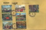 Bhutan 3D Set On FDC - Cars