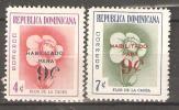 OM196 - REPUBBLICA DOMINICANA - Yvert &Tellier  N° 548/9 ** - Fiori - Repubblica Domenicana