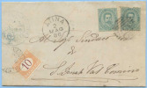 1886 SEGNATASSE C.10 (SASSONE 6 E.30 SCIOLTO) SU PIEGO CON EFFIGIE C.5x2 (UNO DIFETTOSO) DA A...VEDI DESCRIZIONE(DC3824) - 1878-00 Umberto I