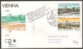 S. Marino 1981 - FDC 1072-73 - Wipa'81-Vienna - Viaggiata - FDC