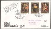 S. Marino 1981 - FDC 1085-87 - Natale - Viaggiata - FDC
