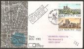 S. Marino 1982 - FDC 1102-03 - Philexfrance - Viaggiata - FDC