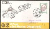 S. Marino 1982 - FDC 1105 - Giovanni Paolo II - Viaggiata - FDC