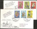 S. Marino 1984- FDC 1145-50 - Jacovitti - 2 Buste - FDC