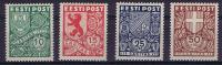 Estland: 1939  Michel Nr 142-145, MH/Neuf* - Estonie