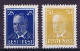 Estland: 1938  Michel Nr 135+36, MH/Neuf* - Estland