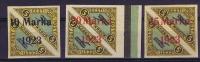 Estland: 1923 Airmail  Michel Nr 43 45B  (45 = B I), MH/Neuf* Cat. Value 1950 Euro, 44 With Sheetmargin