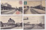 Lot 10 CPA-Thème Gares Trains + 1 Dirigeable - Cartes Postales