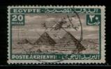 EGYPT / 1933 / AIRMAIL / AIRPLANE / HANDLEY PAGE H.P.42 OVER PYRAMIDS / POST MARK / GAET AL ENAB / VF USED . - Egypt