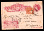 Uruguay - 1907 Uprated Postal Stationery To Spain - Uruguay