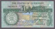 Guernsey 1 Pound Bank Note P-#52a Uncirculated 1991 - Guernsey