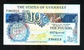 GUERNSEY 10 POUNDS (1991-95) PICK # 54a VF. - Guernsey