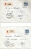 Deux Lettres De Lugano à Locarno, Retournée à L´expéditeur En Belgique (destinataire Inconnu) - Suisse