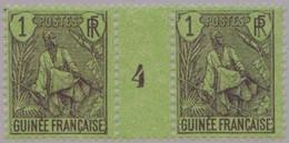Guinée Française, Millisime 4, N°18**