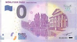 0 Euro Zero Fittizio Wörlitzer Park 2018-1 € BANCONOTA TURISTICA - EURO