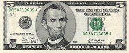 5 $ Dollari USA Series 2003 Firme Marin/Snow UNC SEE SCAN - Etats-Unis