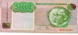 ANGOLA 50000 KWANZAS 1991 PICK 132 See Scan - Angola