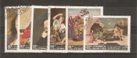 YEMEN (KINGDOM)  - 1967 FAMOUS PAINTINGS SET OF 6 CTO  SG 230-5 - Yemen