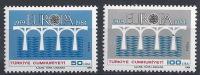 COL--958-. TURQUIE - EUROPA 84 - N° 2425/26, * *  , COTE 10.00 €, Je Liquide , Voir Scan Pour Detail , A Saisir - 1984