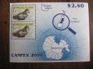 7549 Norfolk Island New Zelande Antarctic Antarctica Antarctique South Pole Sud Oiseau Petrel Canpex 2000 - Sin Clasificación