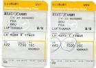 2 Boarding Pass - Lufthansa- LH4631/LH1361 - Brussels-Stuttgart-Brussels - 25MAR2008 - Instapkaart